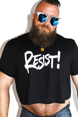 PLUS: Resist Crop Tee-Black