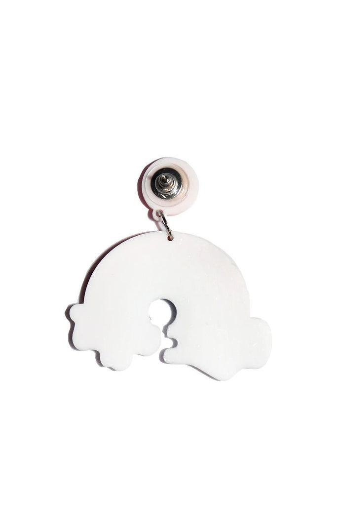 Rainbow in The Clouds Single Earring-Red