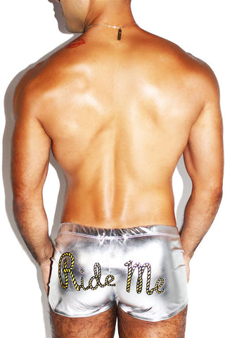 Zipper Metallic Jock-Silver
