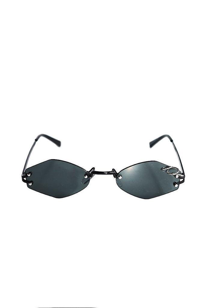 3 Rings Mini Shade Sunglasses-Black