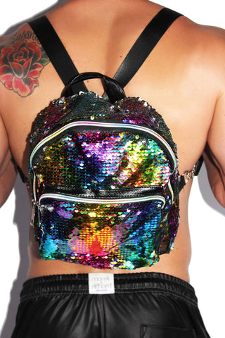 Mermaid Sequin Backpack-Multi