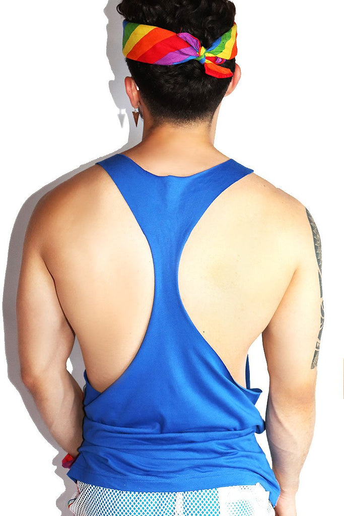Logo Pride String Tank-Royal Blue