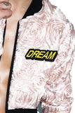 Day Dream Garden Crop Bomber Jacket-Pink