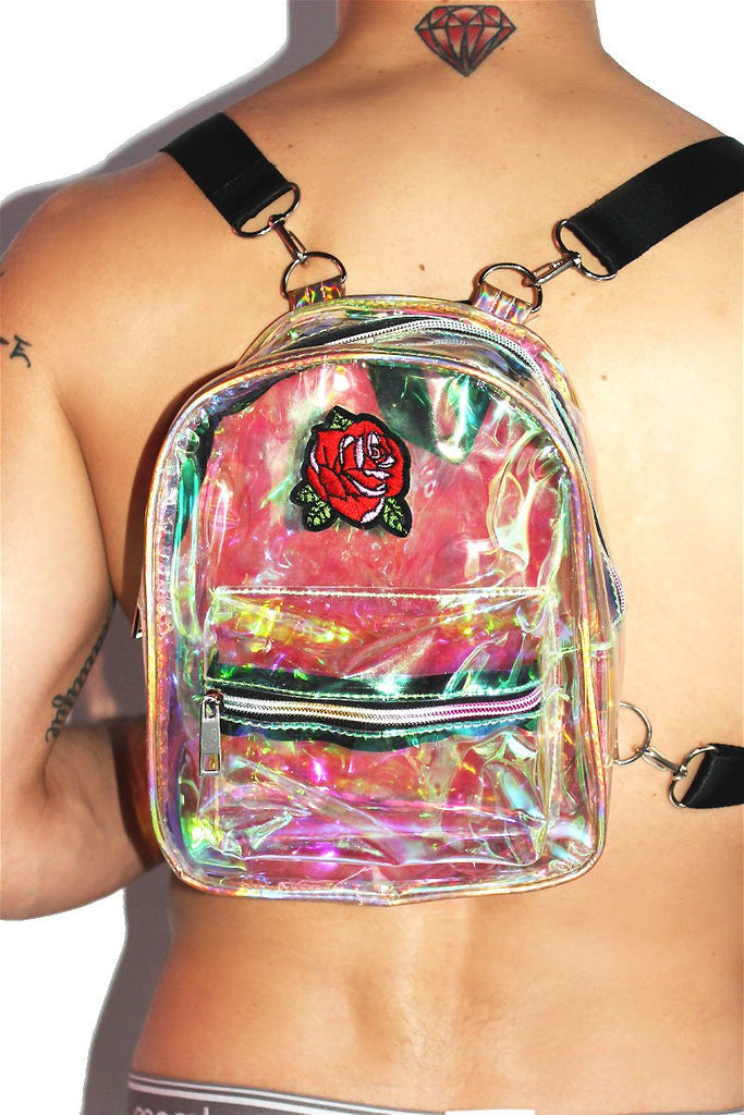 Rose Shimmer Backpack-Pink