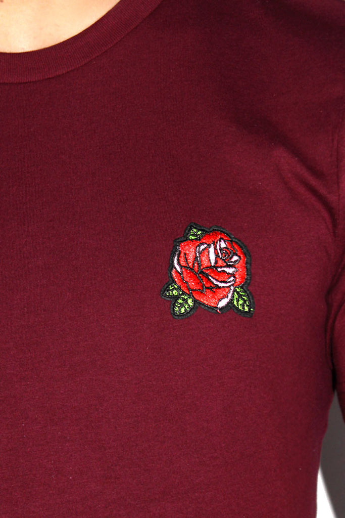 Rose Patch Crop Tee-Burg