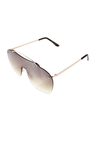 Large Shield Duty Rainbow Sunglasses-Multi