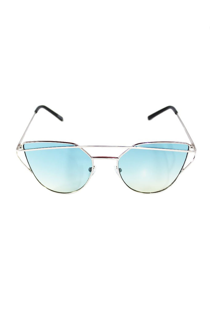 Wired Cat Eye Sunglasses- Blue