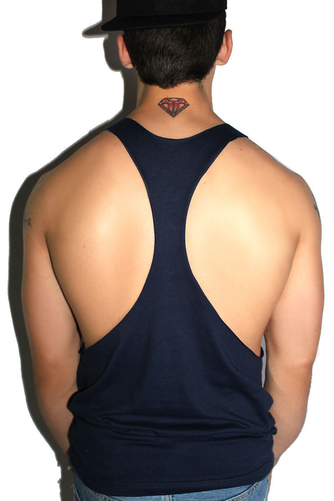 Sorry Not Sorry String Tank- Navy