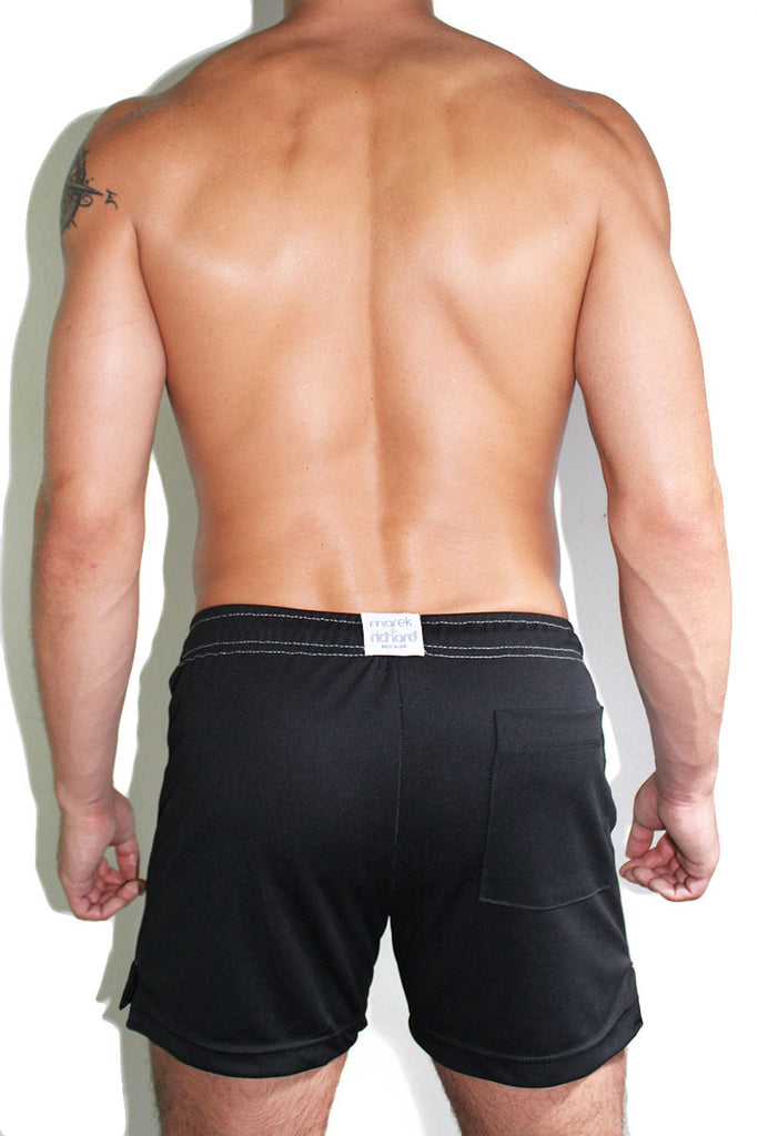 Salty Athletic Shorts- Black