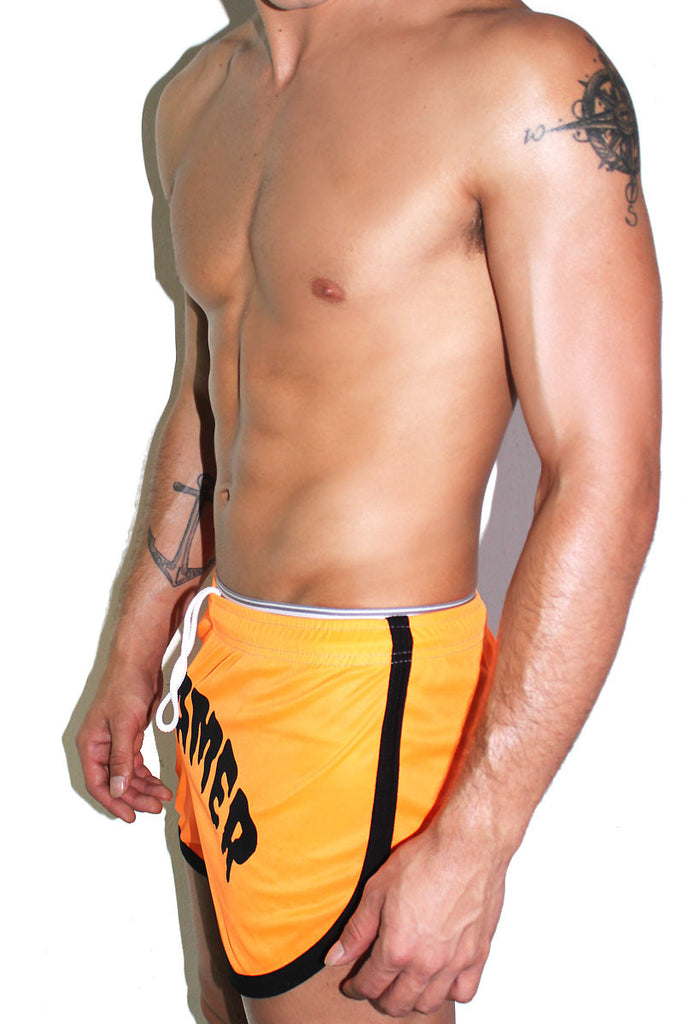 Screamer Neon Running Shorts-Orange
