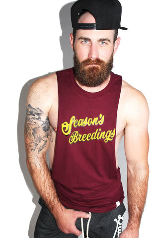 Season's Breedings Low Arm Tank-Burgandy
