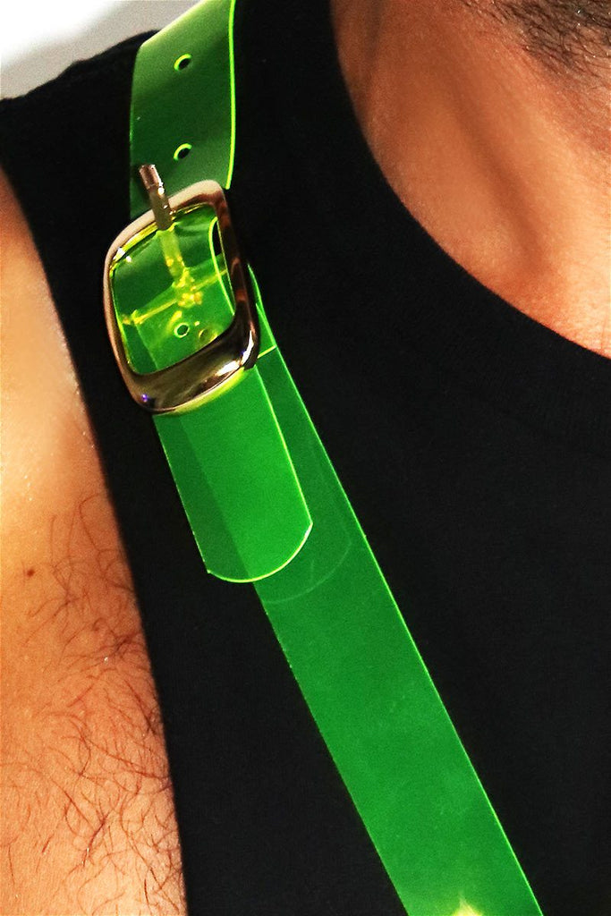 Shade Clear Belt Bag-Neon Green