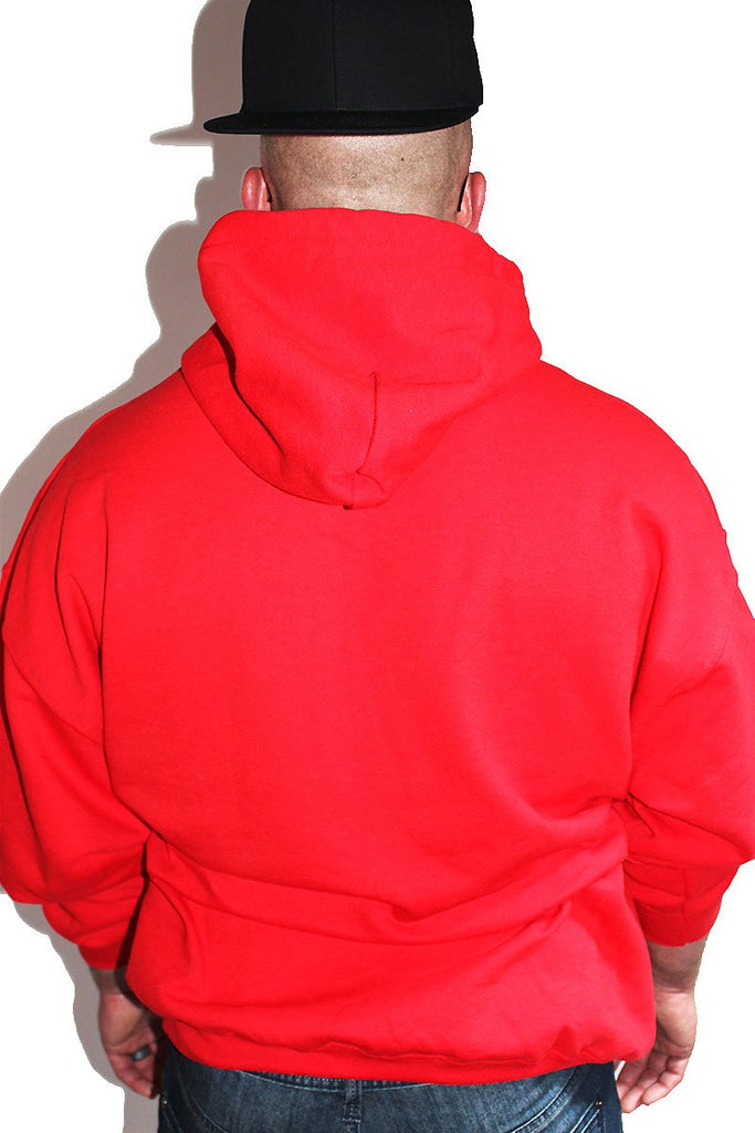 PLUS: Shady Long Sleeve Hoodie-Red