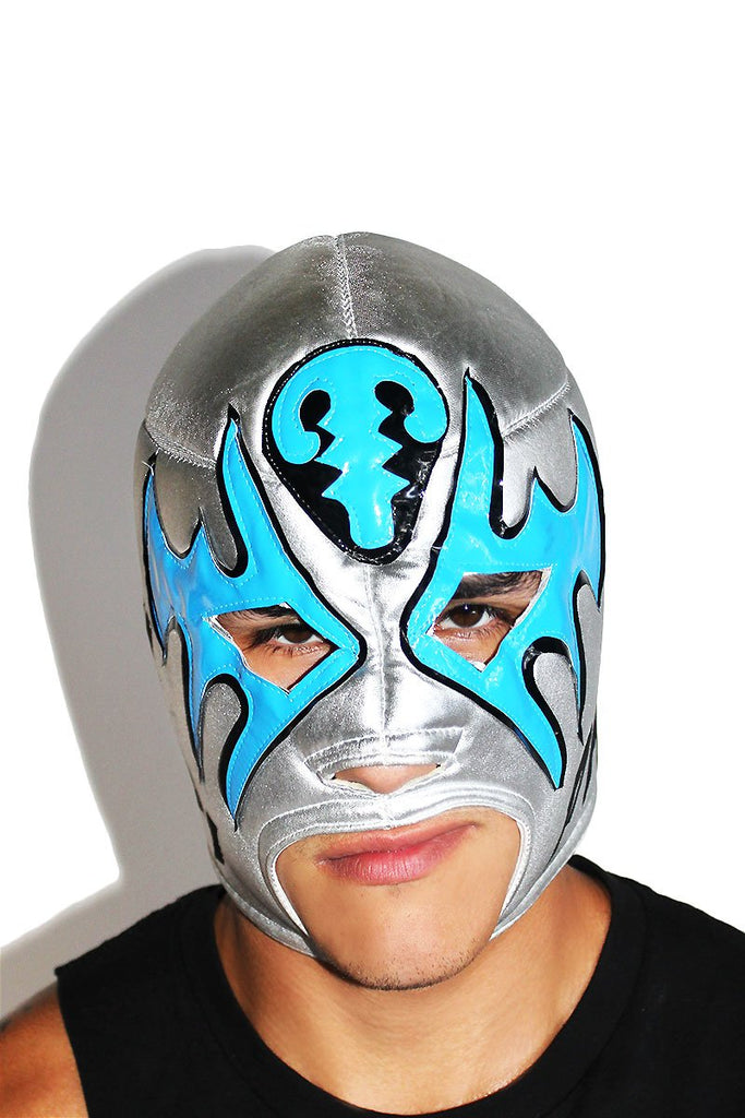 Si Papi Luchadore Mask-Silver