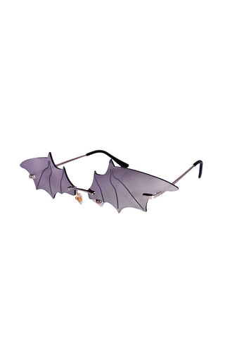 Bat Wing Sunglasses- Silver