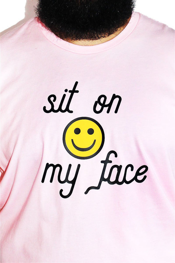 PLUS: Sit On My Face Tee-Pink