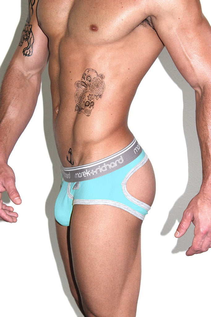 Core Open Back Brief-Sky Blue