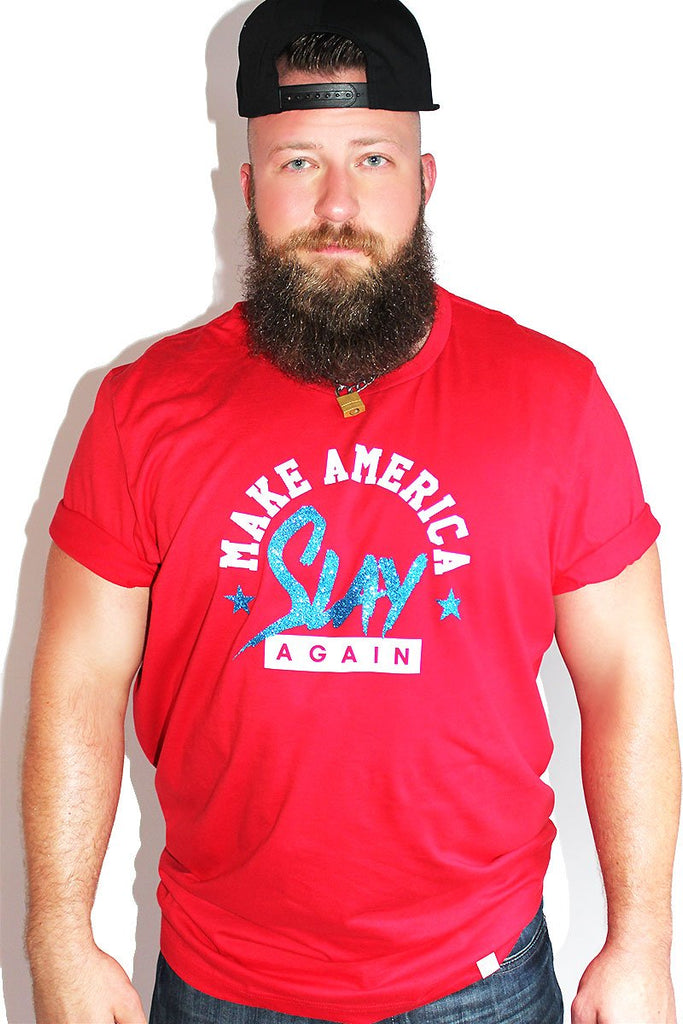 PLUS: Make America Slay Again Tee-Red