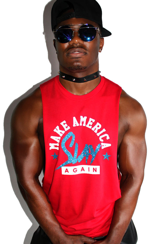 Make America Slay Again Shredder Tank-Red