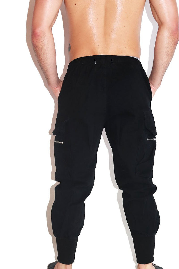 Slut Canvas Cargo Joggers- Black
