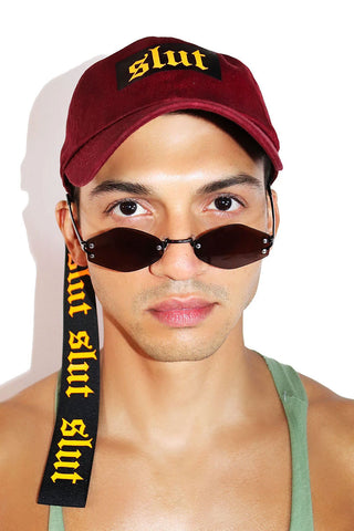 Slut Utility Dad Hat - Burgundy