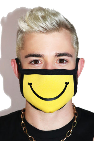 Smiley Face Mask- Yellow