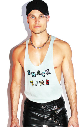 Snack Time Patches String Tank-Seafoam