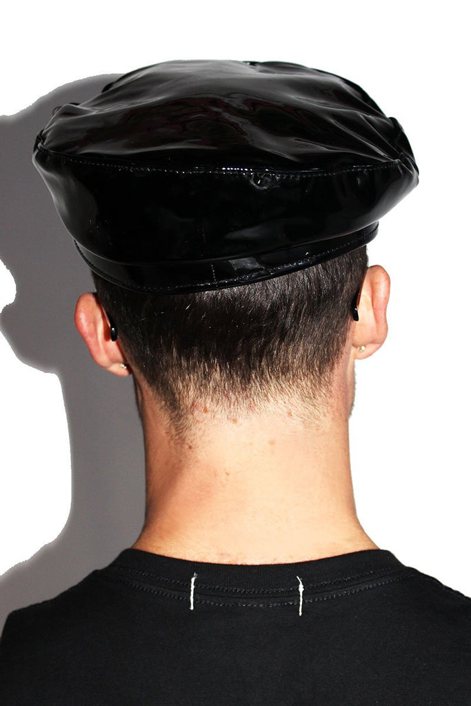 Spank Me Vegan Leather Hat-Black