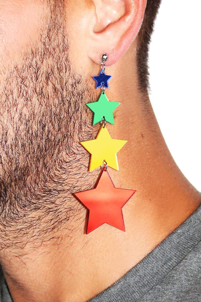 Spectrum Constellation Single Earring-Multi