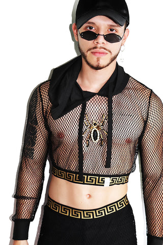 Eight Legged Freak Elastic Body Harness-Black