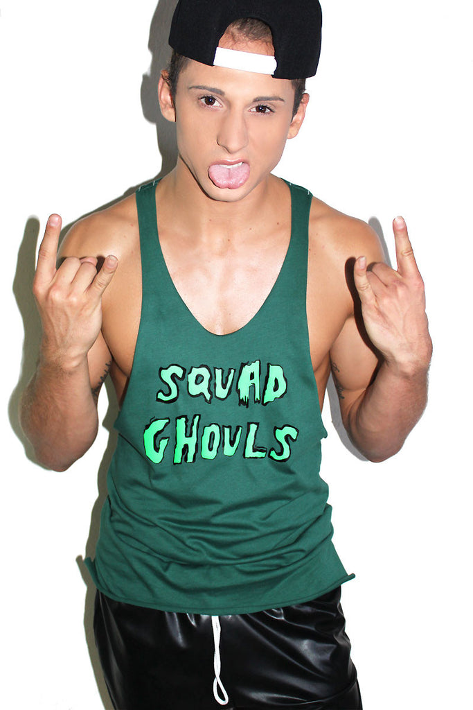 Squad Ghouls String Tank-Green