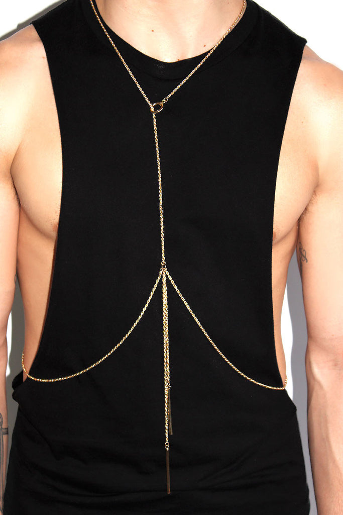 Naked Fine Chain Harness-Gold