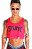 Stunt Crop Racerback Tank-Red
