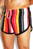 Barcelona Stripe Running Shorts-Red