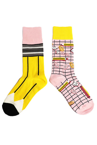 Grid Mesh Socks-Black
