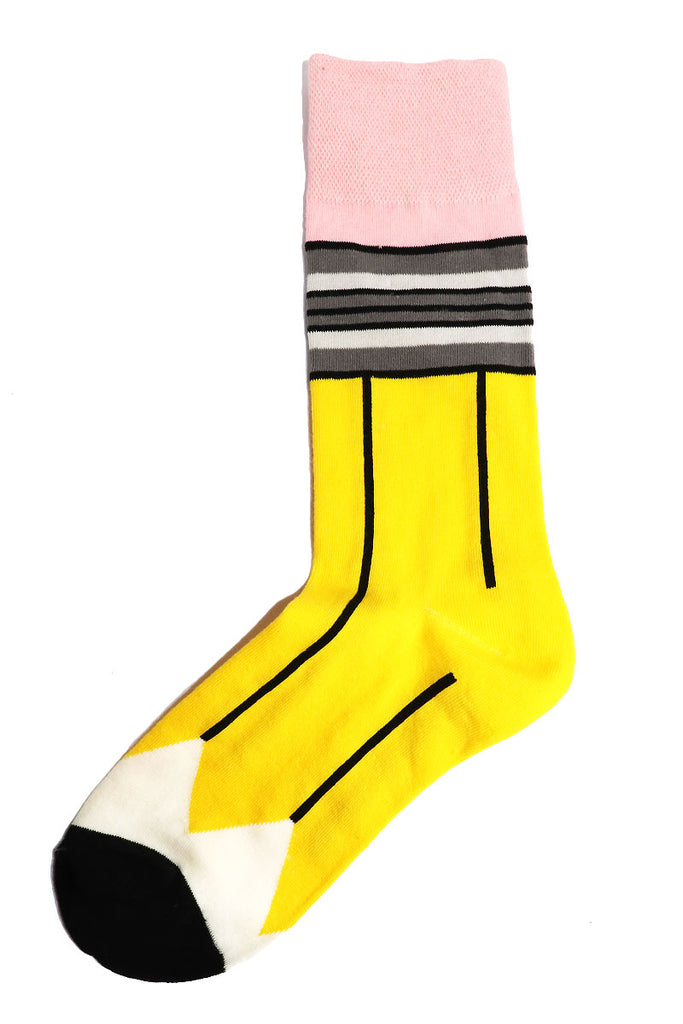 School Supplies Socks-Yellow