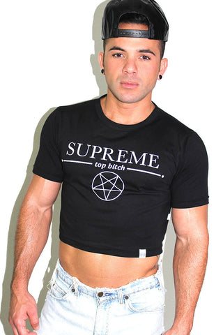 Dark Sided Extreme Crop Tee- Black