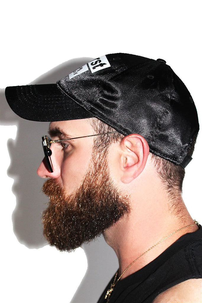 Thirst Trap Silk Dad Hat-Black