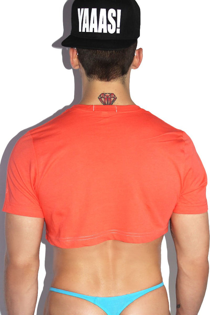 Toasted Buns Extreme Crop Tee-Coral