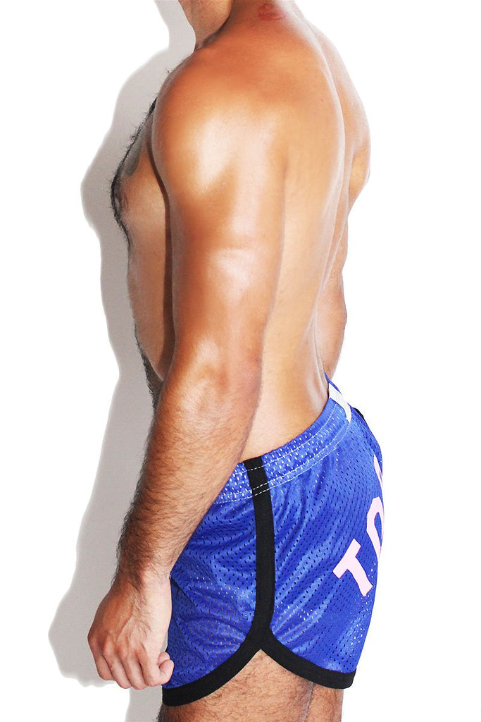 Top it Mesh Running Shorts- Blue
