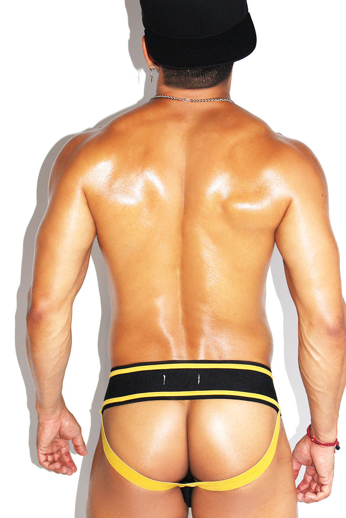 Top Laceup Jock-Yellow