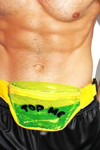Top Me Clear Vinyl Fanny Pack- Yellow