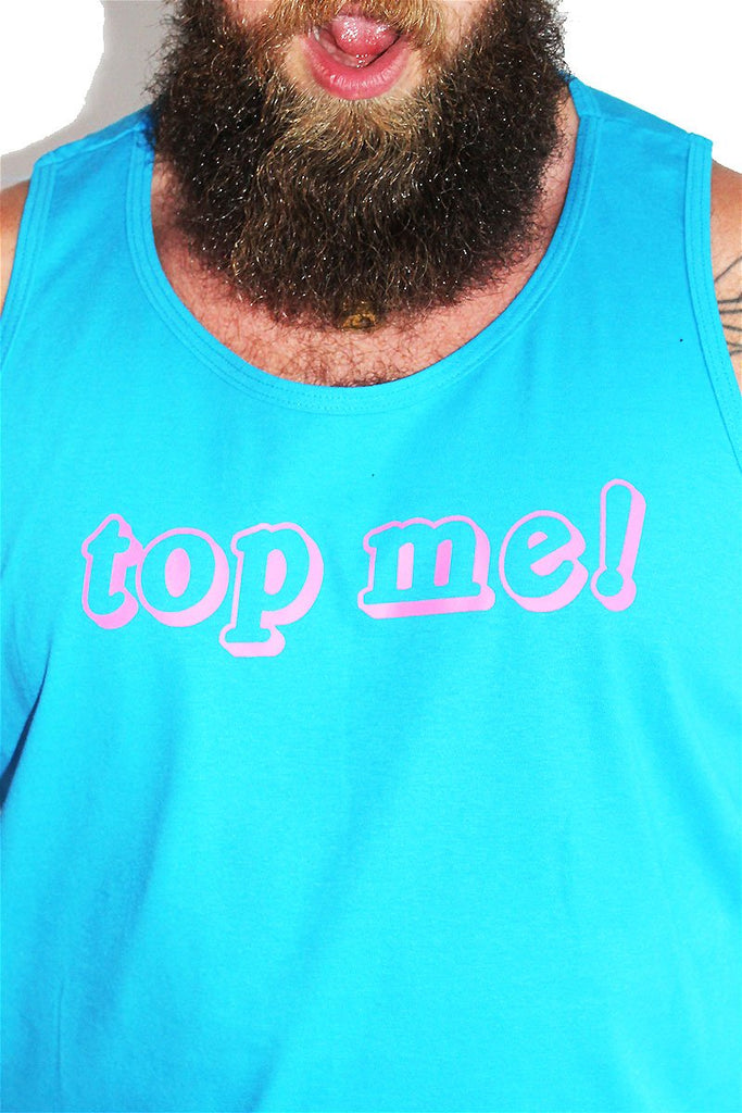 PLUS: Top Me Racerback Tank- Neon Blue
