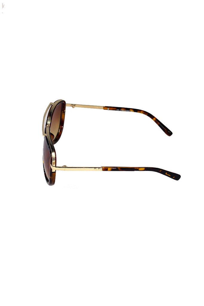 Tortoise Aviator Sunglasses-Black