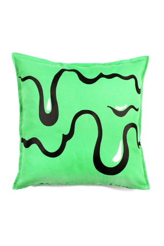 Slime Throw Pillow-Green
