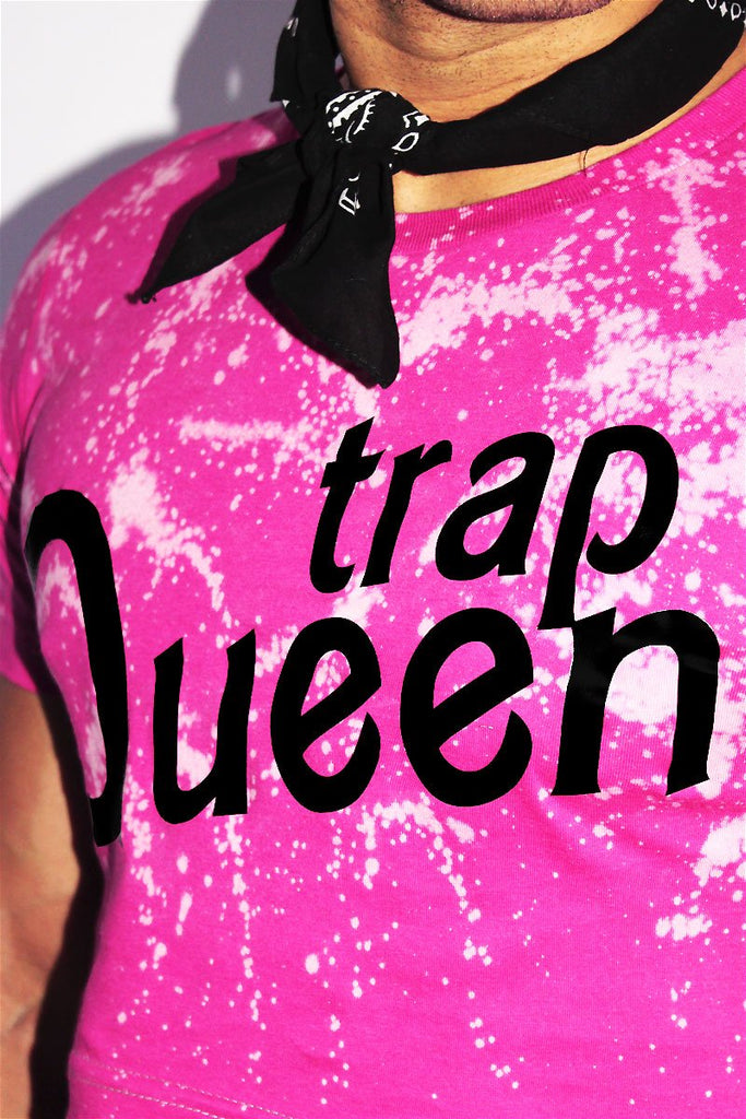 Trap Queen Crop Tee- Fuschia