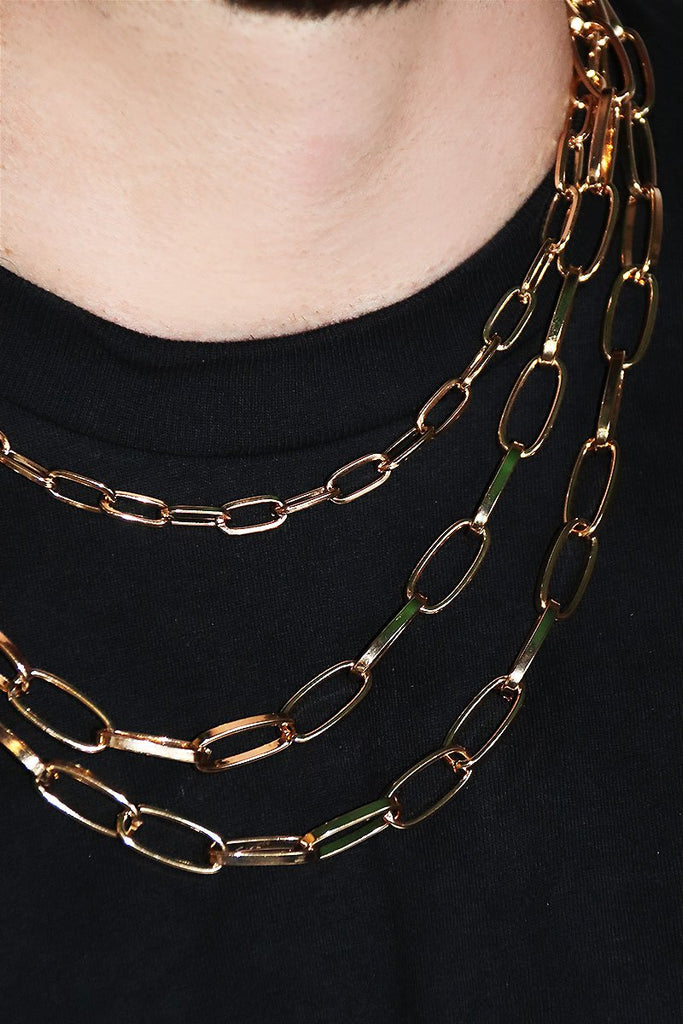 Miami Multi Chain Necklace- Gold