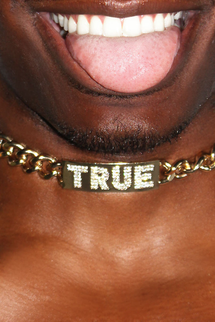True Bling Choker-Gold