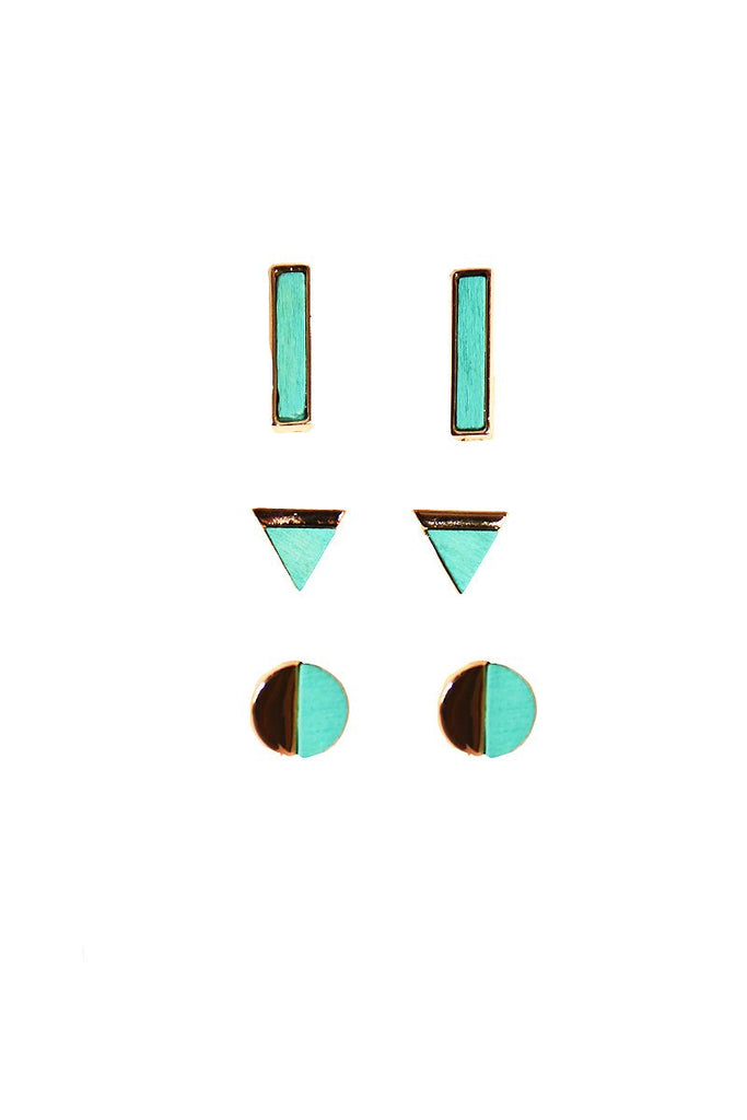 Mojave Set Earring Studs-Turquoise