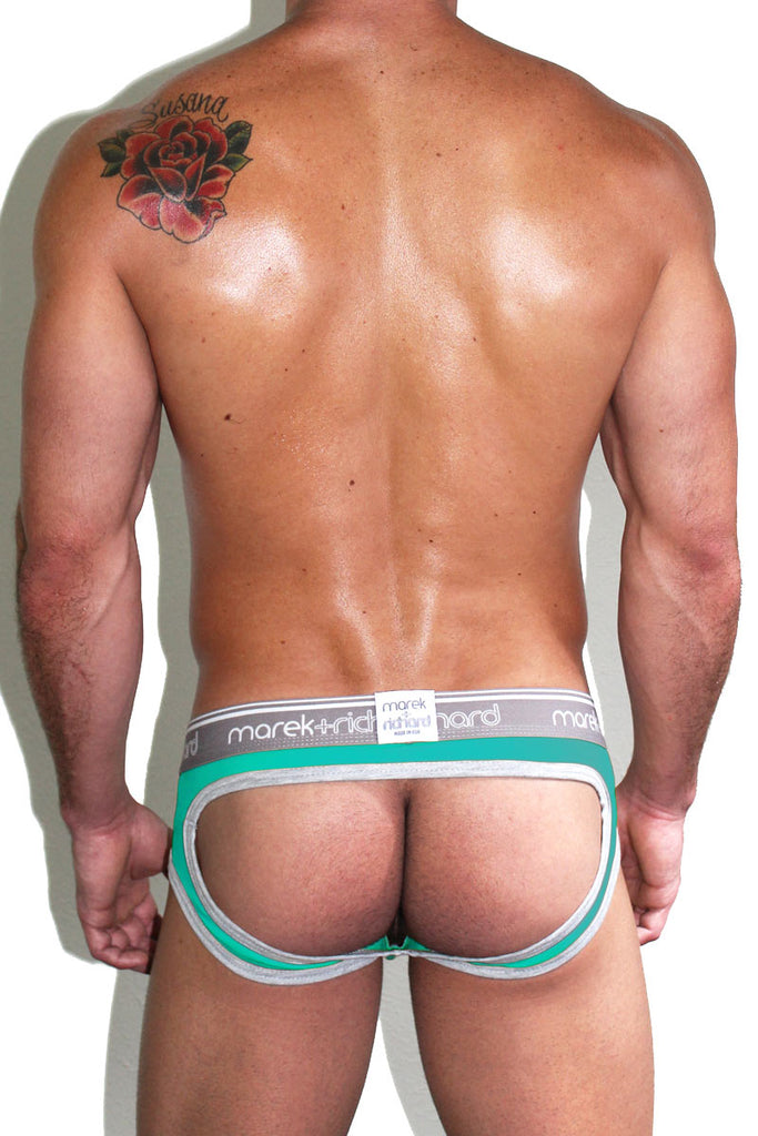 Core Open Back Brief-Turquoise